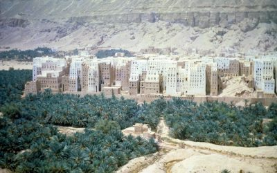 An Aerial Photograph of Shibam