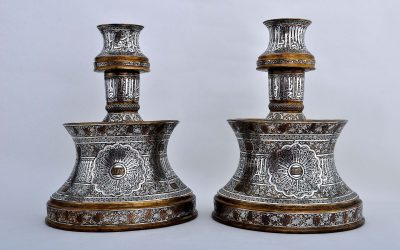 Two Brass Candlesticks
