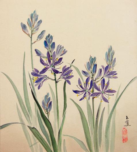 The Wildflowers Around Victoria Painted on Silk