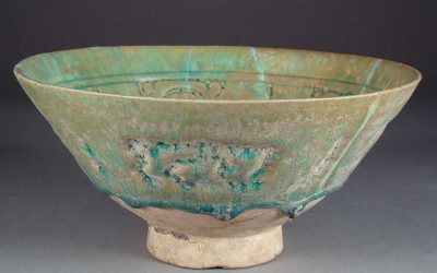 A glazed Stonepaste Bowl